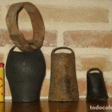 Antigüedades: LOTE DE CENCERROS O CAMPANAS PARA GANADO.. Lote 191022105