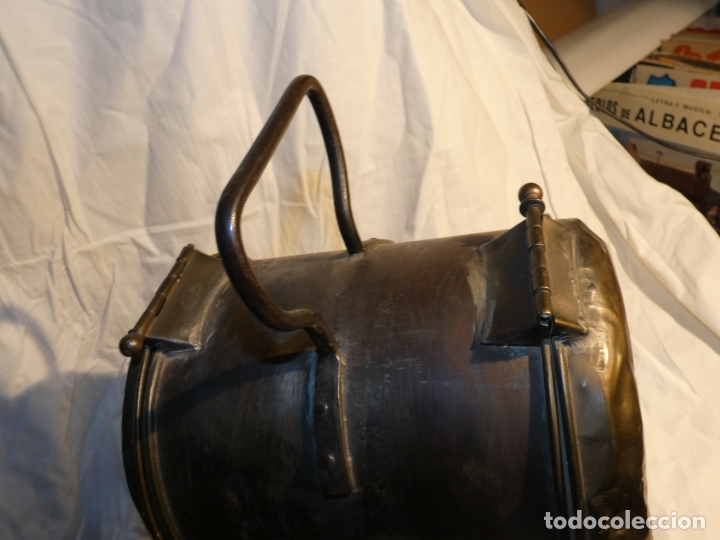 Antigüedades: Renfe Zamora.Farol de tren,Casa Juan, construcciones Bilbao- lleva una bombilla. mide 36x23 cms - Foto 5 - 172156487