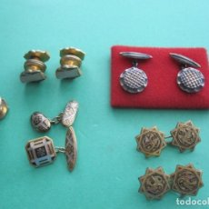 Antigüedades: LOTE DE GEMELOS VARIADOS. Lote 172158597