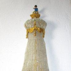 Antigüedades: DE PALACIO! IMPRESIONANTE APLIQUE LAMPARA IMPERIO CRISTAL DE BOHEMIA BRONCE AL ORO. Lote 172159967