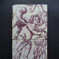 Antigüedades: PAINEL AZULEJOS - ANJO BARROCO - SÉC XVIII. Lote 172160797
