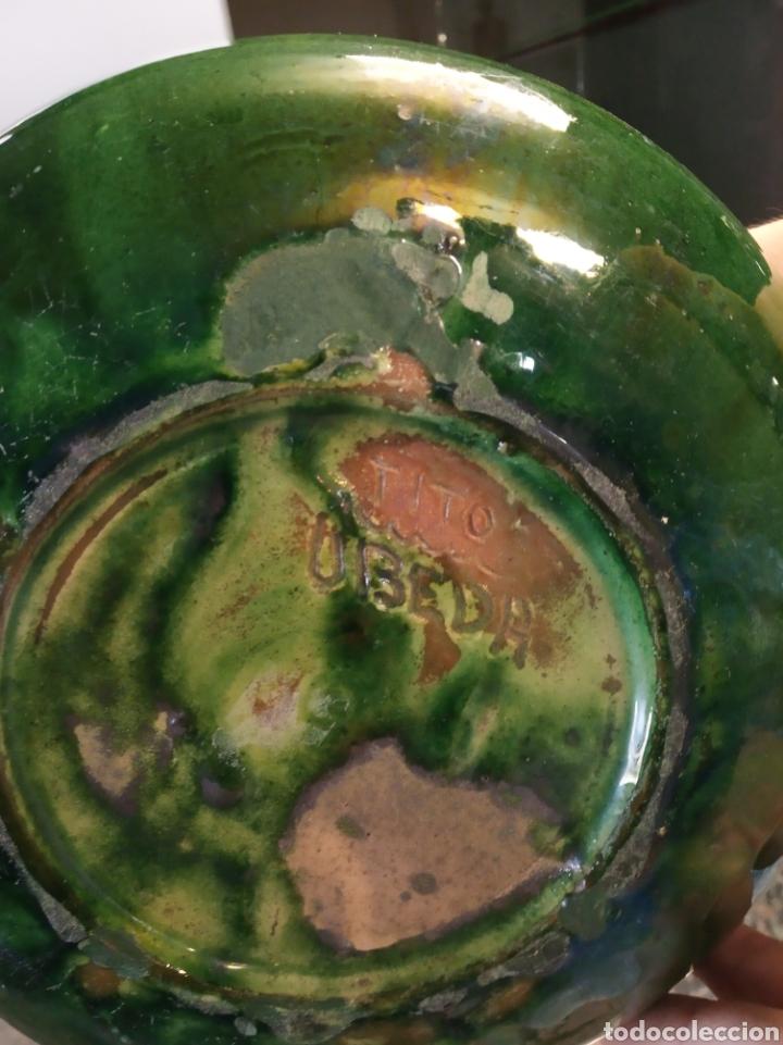 Antigüedades: jarrón de cerámica tito Úbeda antiguo - Foto 5 - 172161042