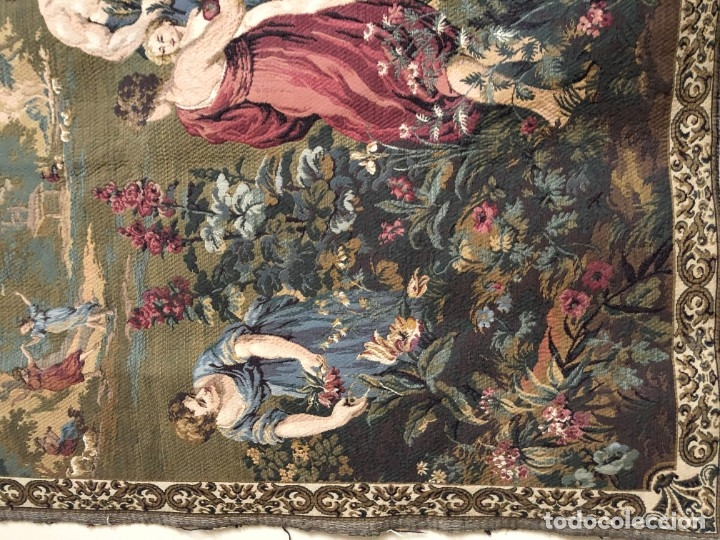 Antigüedades: GRAN TAPIZ DE NINFAS DEL BOSQUE - Foto 5 - 172165247