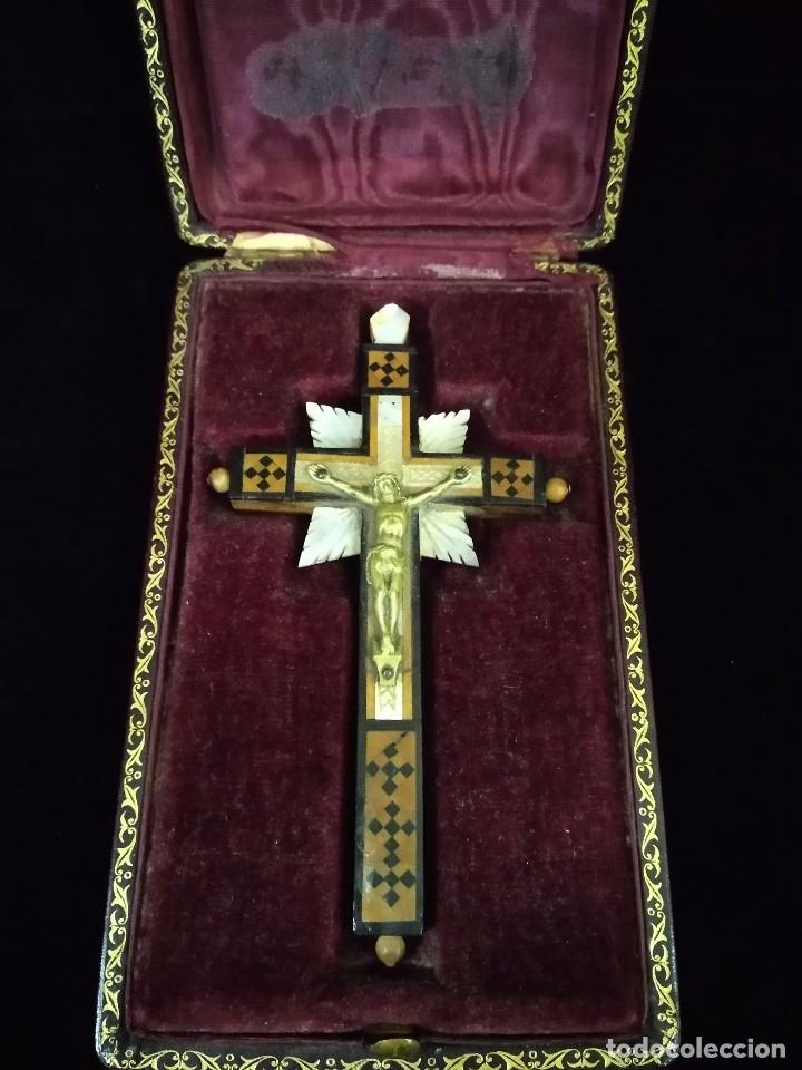 CRUZ ANTIGUA (Antigüedades - Religiosas - Crucifijos Antiguos)