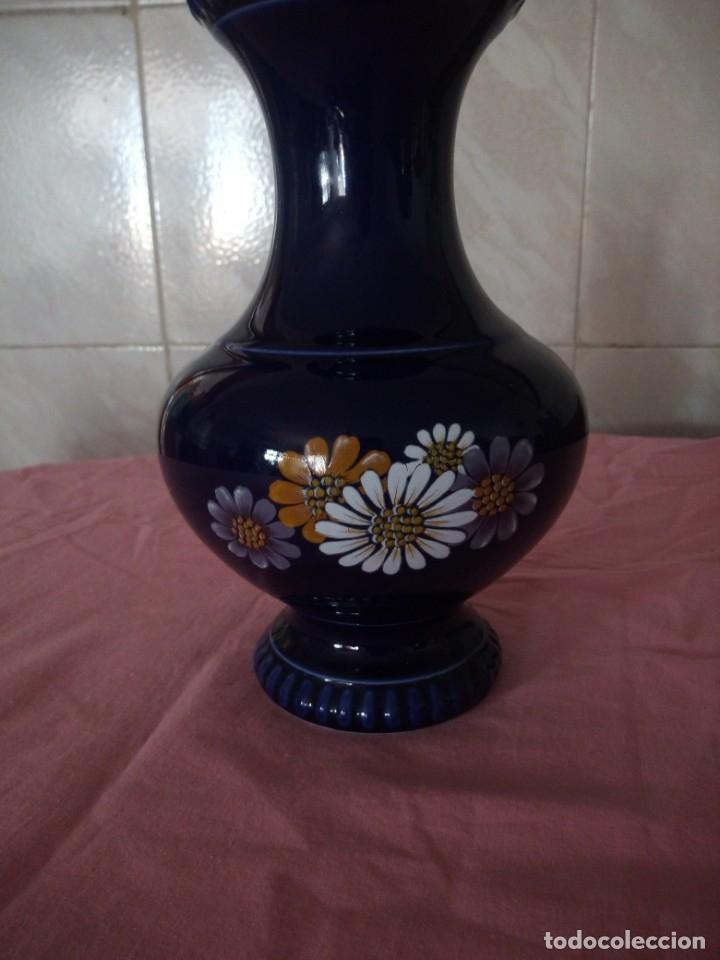 Antigüedades: Antiguo jarron de porcelana azul cobalto, bareuther waldsassen bavaria germany.echt cobalt - Foto 2 - 172183252