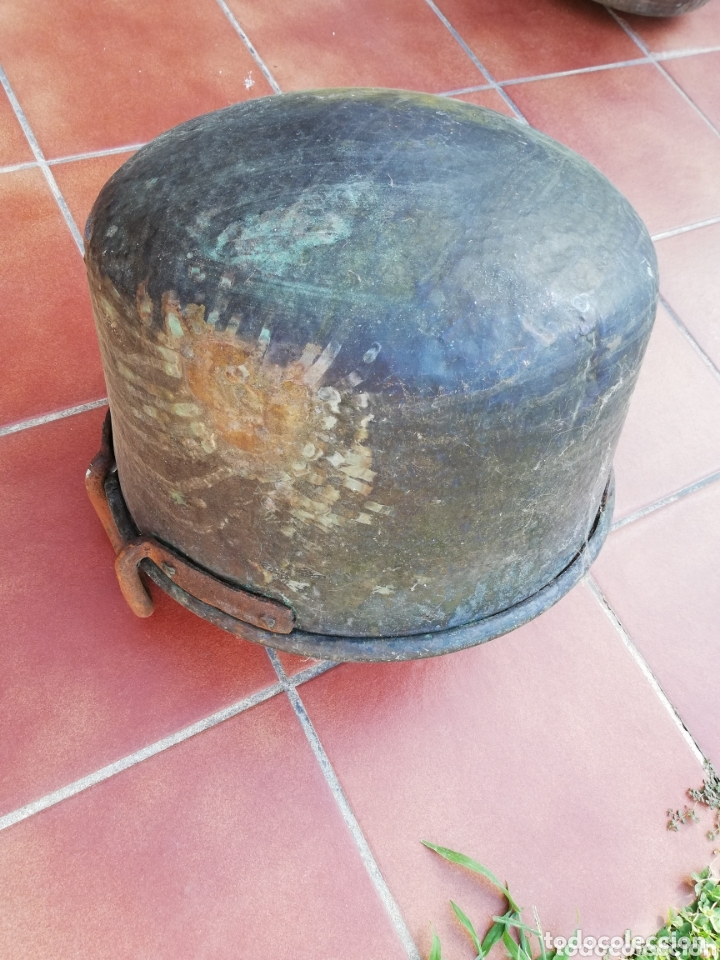 Antigüedades: Caldero cobre - Foto 11 - 134799009