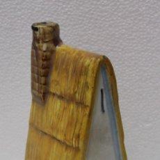 Antigüedades: BOTELLA DE CERÁMICA DE MANISES - LA BARRACA DESTILERIAS CANOS VILLARREAL ESPAÑA. Lote 172213342