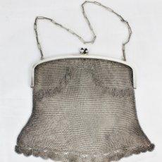 Antigüedades: PRECIOSO BOLSO DE PLATA PPS DEL S XX. PLATA 800 CON CONTRASTE.. Lote 172213597
