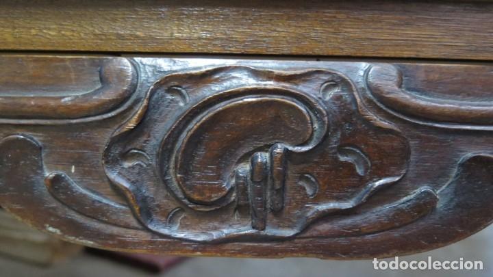 Antigüedades: ANTIGUA COMODA DE MADERA TALLADA. NOGAL Y ROBLE. AÑOS 30 - Foto 16 - 172214407
