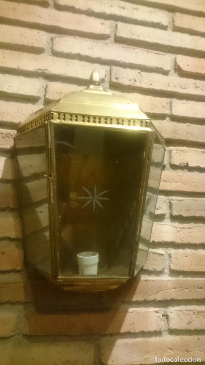 Antigüedades: PAREJA APLIQUES DE LATÓN ELECTRIFICADOS - Foto 6 - 172215395