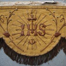 Antigüedades: FRONTAL ALTAR FRANCÉS DEL SIGLO XIX. TISÚ ORO Y BORDADO. Lote 209904997