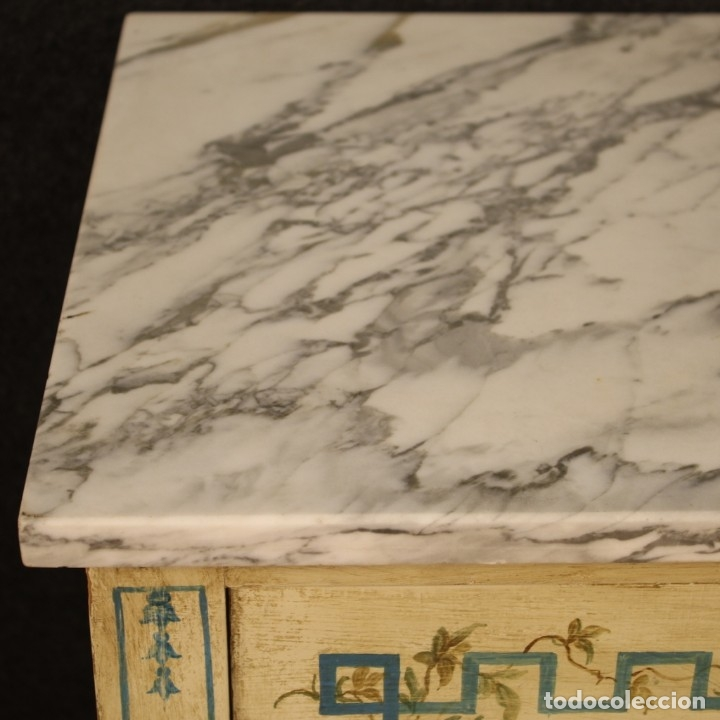 Antigüedades: Cómoda italiana de estilo Luis XVI en madera lacada y pintada - Foto 3 - 172223524