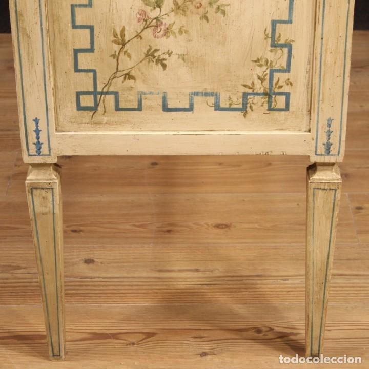 Antigüedades: Cómoda italiana de estilo Luis XVI en madera lacada y pintada - Foto 6 - 172223524