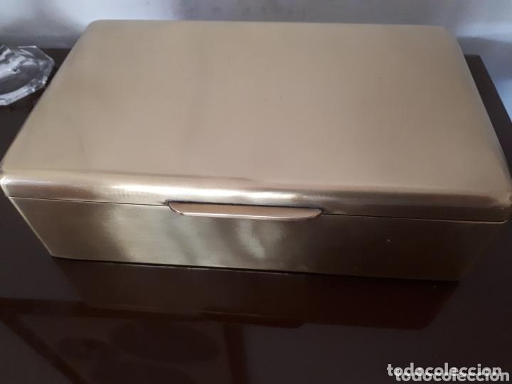 Antigüedades: Antigua caja de bronce, purera, interior en madera - Foto 4 - 172237745