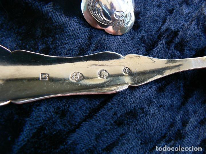 Antigüedades: juego de seis cucharas+1cuchara para azucar de plata Holanda 1868 - Foto 9 - 172239474