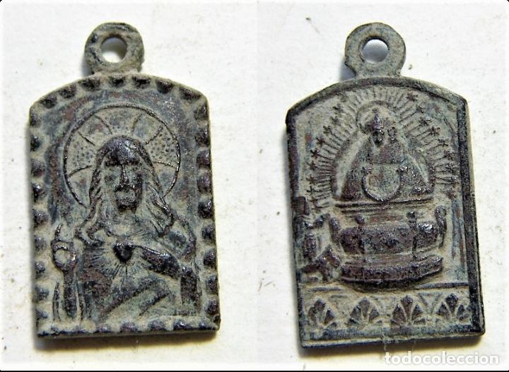 MEDALLA RELIGIOSA SIGLO XIX (Antigüedades - Religiosas - Medallas Antiguas)