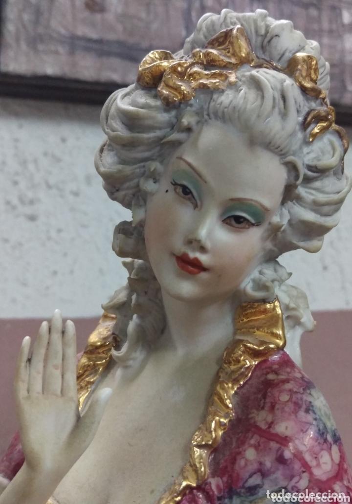 FIGURA DAMA CAPODIMONTE DEL ESCULTOR VITTORIO SABADIN (ITALIA) (Antigüedades - Porcelanas y Cerámicas - Otras)