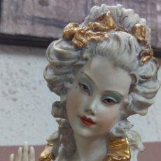 Antigüedades: FIGURA DAMA CAPODIMONTE DEL ESCULTOR VITTORIO SABADIN (ITALIA). Lote 172269508