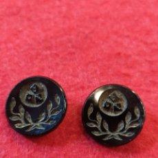Antigüedades: ANTIGUOS Y RAROS BOTONES CON DADOS. BOTONES CRISTAL TALLADO, NEGRO AZABACHE. BOTONES TALLADOS. Lote 172286104