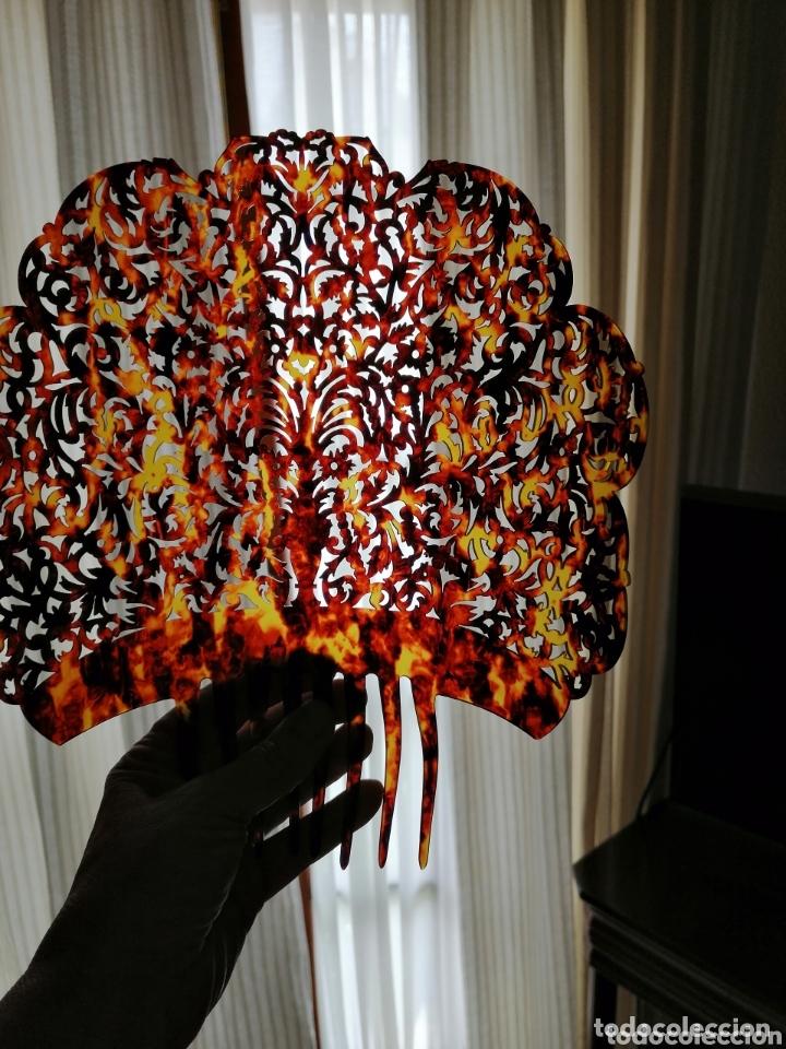 Antigüedades: Preciosa peina de gran calidad tallada a mano. - Foto 2 - 172288989