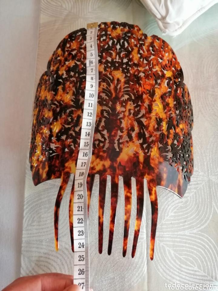 Antigüedades: Preciosa peina de gran calidad tallada a mano. - Foto 3 - 172288989