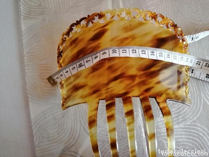 Antigüedades: Peineta art deco tallada a mano - Foto 4 - 172293032