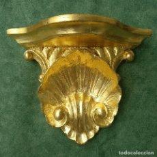 Antigüedades: MÉNSULA DE MADERA AL PAN DE ORO. Lote 172296485