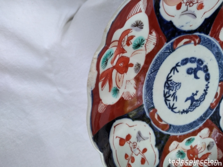 Antigüedades: Plato porcelana japonesa Imari - Foto 4 - 172304888