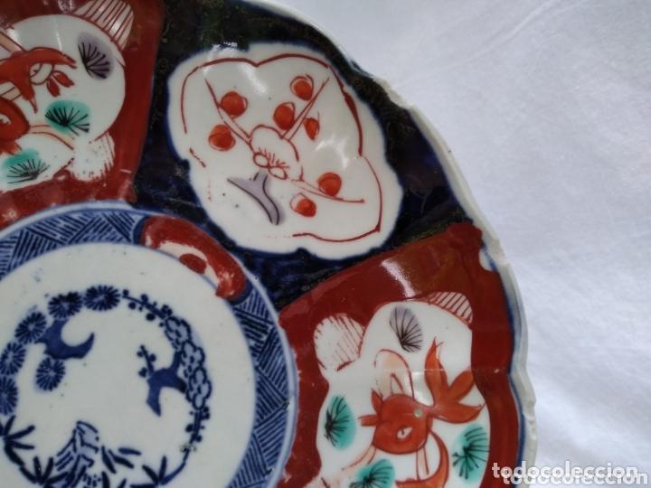 Antigüedades: Plato porcelana japonesa Imari - Foto 2 - 172304888
