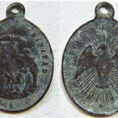 Antigüedades: MEDALLA RELIGIOSA DIVINO ESPÍRITU SANTO - SANTA TRINIDAD SIGLO XIX XX. Lote 172308523
