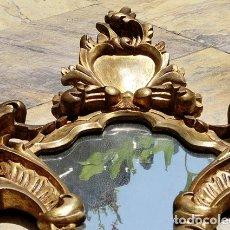 Antigüedades: ANTIGUA Y PRECIOSA CORNUCOPIA - MADERA TALLADA Y DORADA - ESTUCO Y PAN DE ORO - ESPEJO - MARCO. Lote 172321560