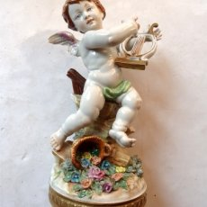 Antigüedades: PORCELANA – ALGORA – ANGEL ESTACIONES – VERANO. Lote 172353903