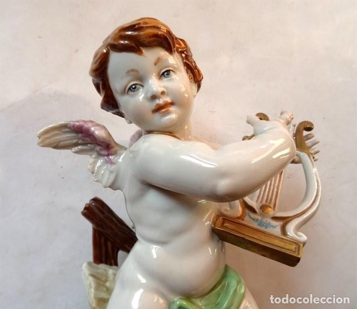 Antigüedades: PORCELANA – ALGORA – ANGEL ESTACIONES – VERANO - Foto 2 - 172353903