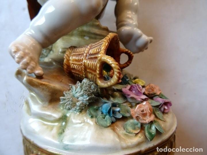 Antigüedades: PORCELANA – ALGORA – ANGEL ESTACIONES – VERANO - Foto 8 - 172353903