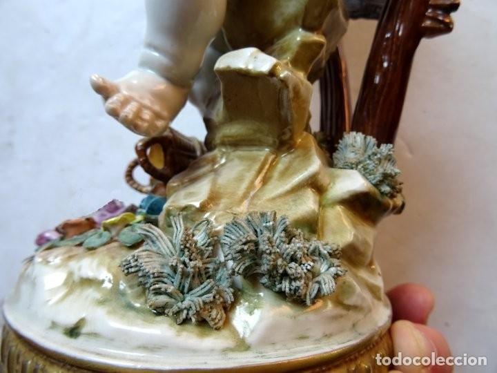 Antigüedades: PORCELANA – ALGORA – ANGEL ESTACIONES – VERANO - Foto 10 - 172353903
