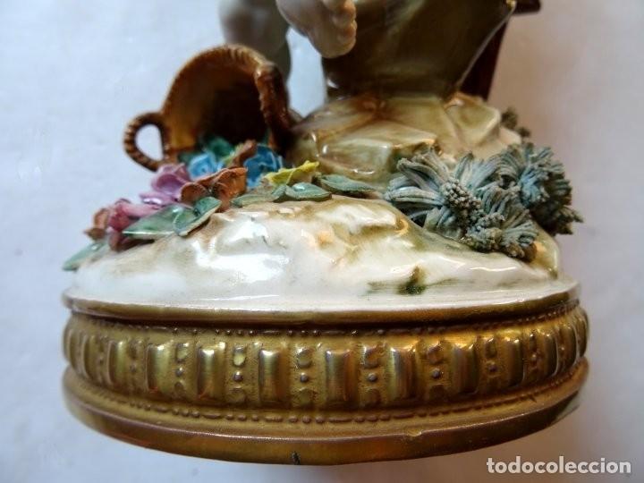 Antigüedades: PORCELANA – ALGORA – ANGEL ESTACIONES – VERANO - Foto 11 - 172353903