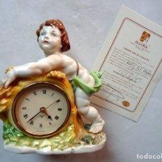 Antigüedades: PORCELANA - ALGORA – RELOJ ESTACIONES – VERANO. Lote 172354334