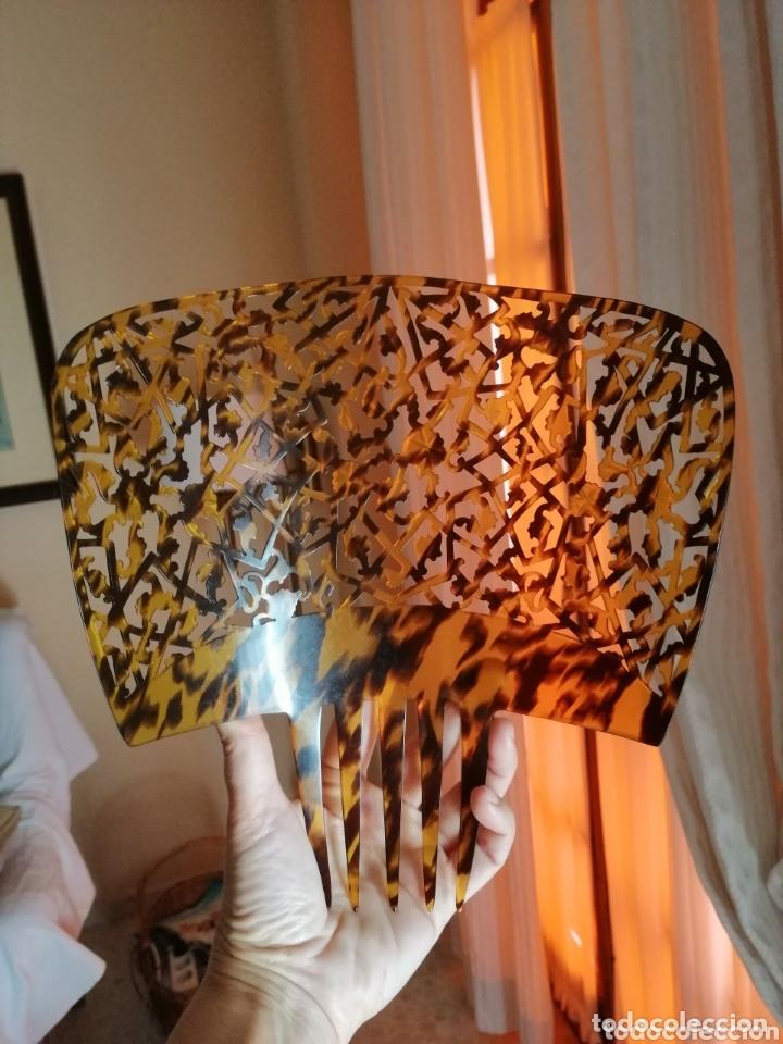 Antigüedades: Preciosas peineta calada a mano años 40. - Foto 2 - 172360024