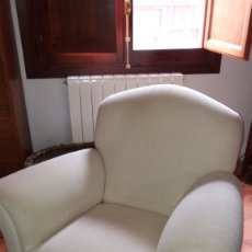 Antigüedades: SOFA Y PAREJA SILLONES ESTILO ART DECO. Lote 172360995