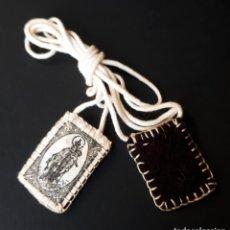Antigüedades: ESCAPULARIO VIRGEN DEL CARMEN. Lote 172368869
