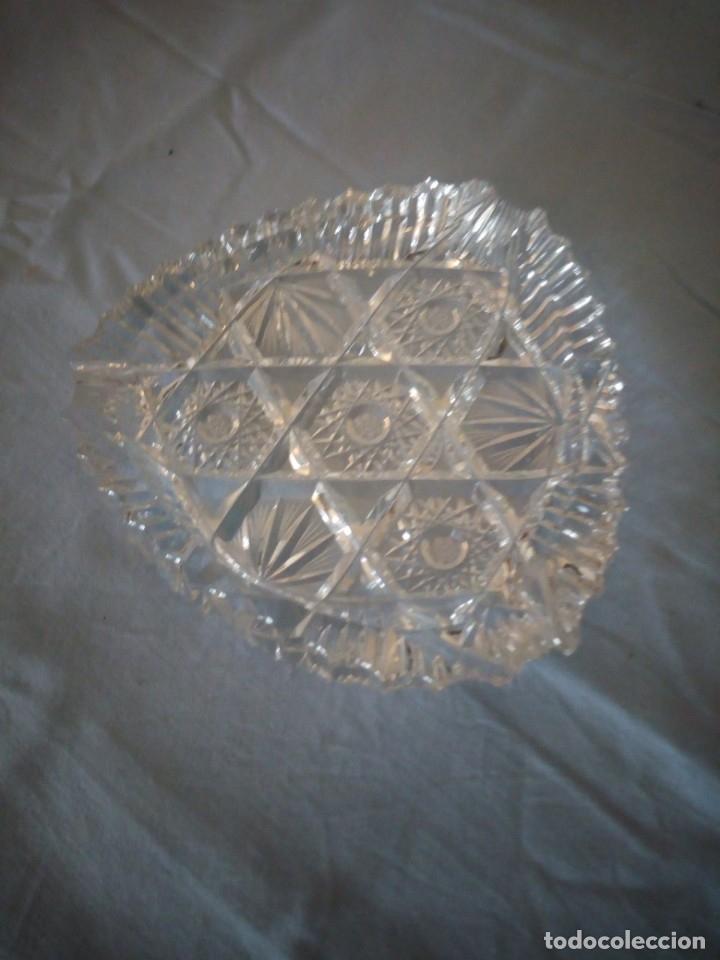 PRECIOSO CENICERO DE CRISTAL DE BOHEMIA TALLADO Y SOPLADO,ESTRELLAS, REPÚBLICA CHECA (Antigüedades - Cristal y Vidrio - Bohemia)