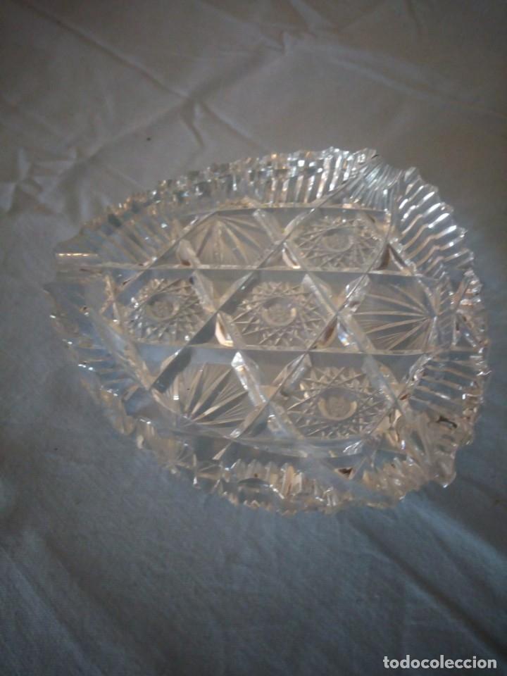 Antigüedades: Precioso cenicero de cristal de bohemia tallado y soplado,estrellas, república checa - Foto 2 - 172378954