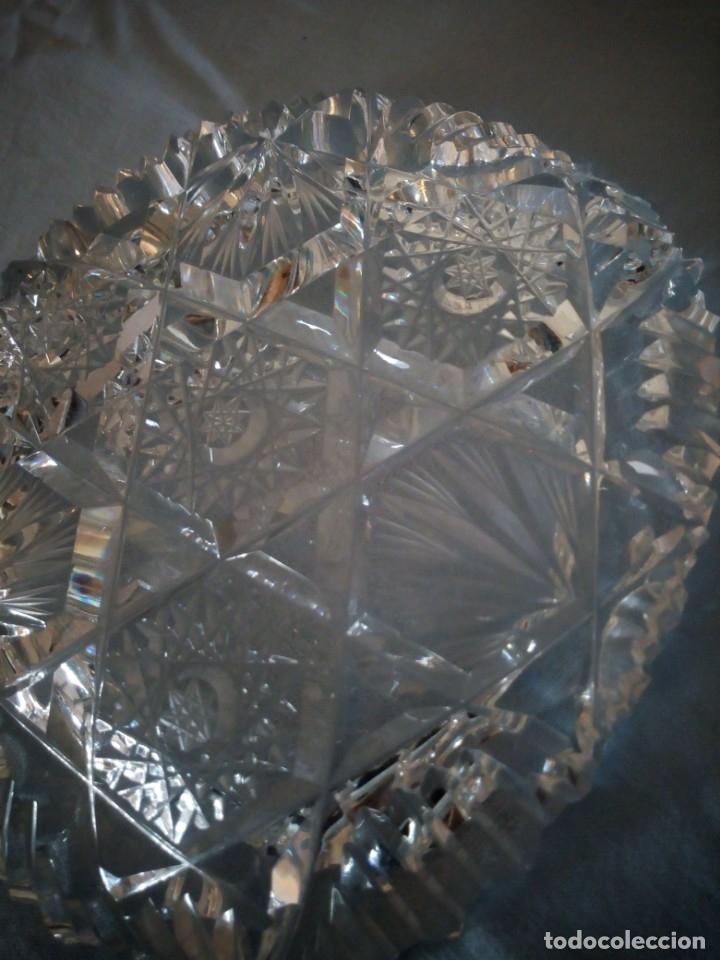 Antigüedades: Precioso cenicero de cristal de bohemia tallado y soplado,estrellas, república checa - Foto 5 - 172378954