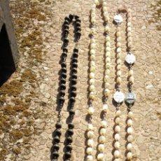 Antigüedades: LOTE DE 10 ROSARIOS ANTIGUOS - VER VARIAS FOTOS - AF2. Lote 254900560