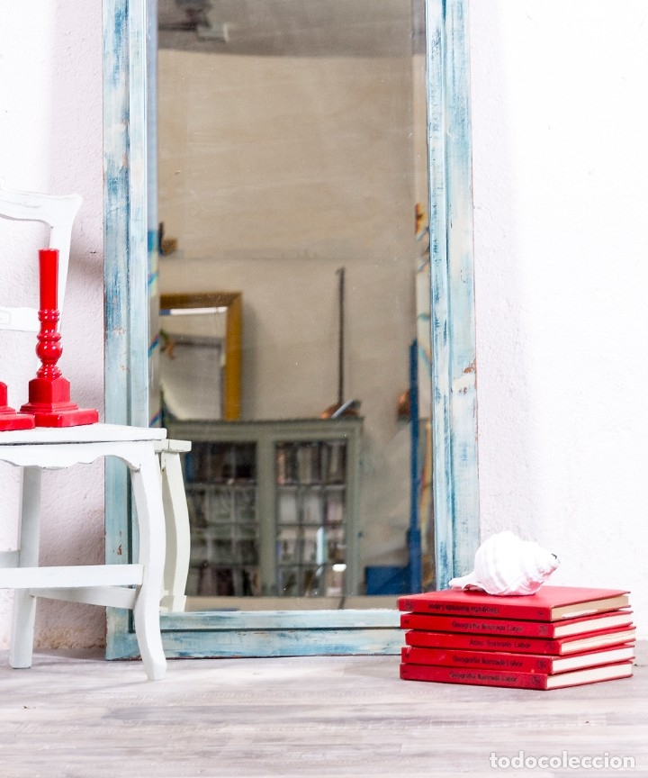 Antigüedades: Espejo Antiguo Restaurado Alice - Foto 5 - 172383088