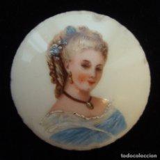 Antigüedades: ANTIGUA PLACA DE PORCELANA REDONDA. PINTADA A MANO. PORCELANA DE LIMOGES. FRANCIA. N.O.. Lote 172383934