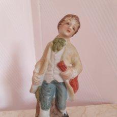 Antigüedades: FIGURA DE MUSICO REALIZADA EN BISCUIT. Lote 172389779