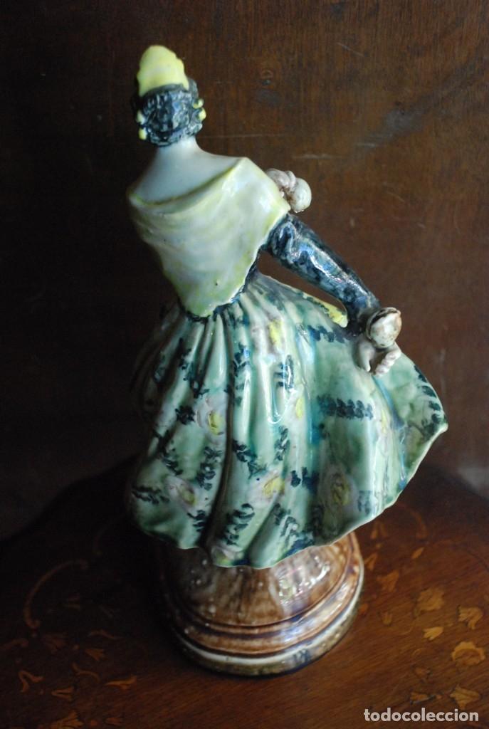 Antigüedades: PRECIOSA VALENCIANA ANTIGUA DE CERÁMICA PEYRO - Foto 2 - 172396314