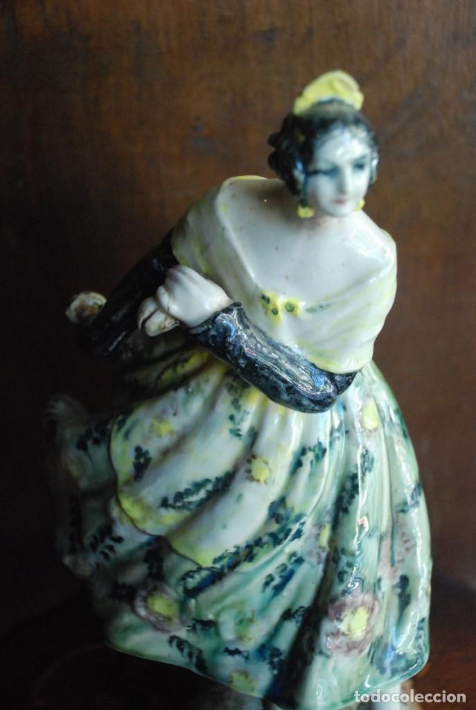 Antigüedades: PRECIOSA VALENCIANA ANTIGUA DE CERÁMICA PEYRO - Foto 7 - 172396314