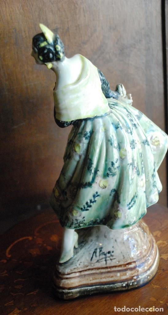 Antigüedades: PRECIOSA VALENCIANA ANTIGUA DE CERÁMICA PEYRO - Foto 11 - 172396314